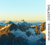 scenic alpine landscape with... | Shutterstock . vector #210297841