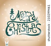 template christmas greeting... | Shutterstock .eps vector #210299461