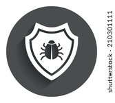 shield sign icon. virus...