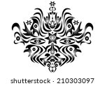 graphic face collected of... | Shutterstock . vector #210303097