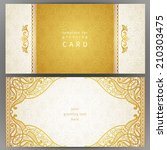 vintage ornate cards in... | Shutterstock .eps vector #210303475