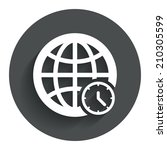 world time sign icon. universal ...