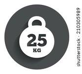 weight sign icon. 25 kilogram ...