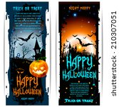 vector halloween banners with... | Shutterstock .eps vector #210307051