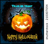 halloween background whith... | Shutterstock .eps vector #210307054