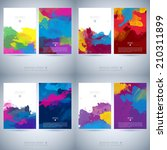 set of bright colorful vector... | Shutterstock .eps vector #210311899