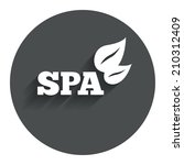 spa sign icon. spa leaves...