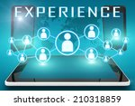 experience   text illustration... | Shutterstock . vector #210318859