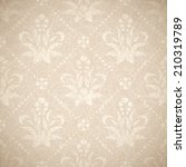 creamy vintage seamless classic ... | Shutterstock .eps vector #210319789