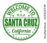 Welcome to Santa Cruz grunge rubber stamp on white background, vector illustration