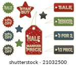 collection of sale tags  tabs... | Shutterstock .eps vector #21032500