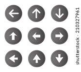 arrow sign vector icon set....