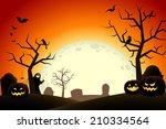 halloween midnight | Shutterstock .eps vector #210334564
