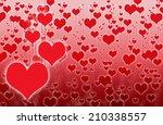 illustration of valentine heart ... | Shutterstock . vector #210338557