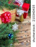 christmas and new year holidays ... | Shutterstock . vector #210340435
