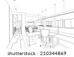 outline sketch of a interior... | Shutterstock . vector #210344869