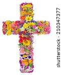 Flowers Of A Cross Of Jesus In...
