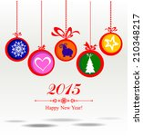 happy new year 2015  year of... | Shutterstock .eps vector #210348217