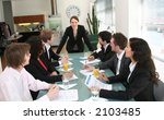 business meeting with female... | Shutterstock . vector #2103485