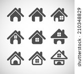 house icon set  each icon is a... | Shutterstock .eps vector #210348829