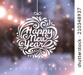 christmas and new year greeting ... | Shutterstock .eps vector #210348937