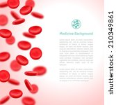 blood cells. medical background.... | Shutterstock .eps vector #210349861