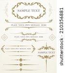 vector set of calligraphic... | Shutterstock .eps vector #210356881
