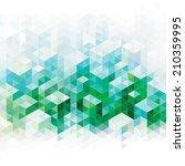 abstract geometric green urban... | Shutterstock . vector #210359995