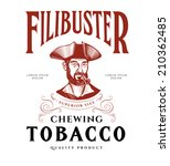 vintage tobacco label with... | Shutterstock .eps vector #210362485