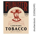 vintage tobacco label with... | Shutterstock .eps vector #210362491