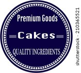 cakes grunge stamp with on... | Shutterstock .eps vector #210365521
