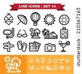 line icons set 14 .illustration ... | Shutterstock .eps vector #210367165