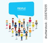 social groups of people icon... | Shutterstock .eps vector #210370255