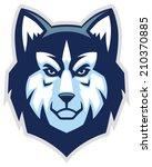 husky dog head mascot | Shutterstock .eps vector #210370885