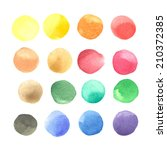 colorful watercolor blots... | Shutterstock .eps vector #210372385
