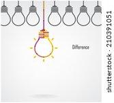 creative light bulb difference... | Shutterstock .eps vector #210391051