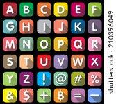 flat icons alphabet | Shutterstock .eps vector #210396049