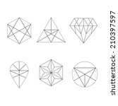 set of icons  geometric logo | Shutterstock .eps vector #210397597