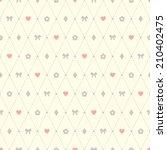 seamless vector pattern made of ... | Shutterstock .eps vector #210402475
