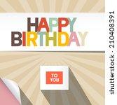 happy birthday card illustration   Shutterstock . vector #210408391