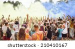celebrants dancing during the... | Shutterstock . vector #210410167