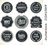 high quality labels set | Shutterstock .eps vector #210415849