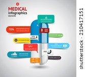 medical infographics elements... | Shutterstock .eps vector #210417151