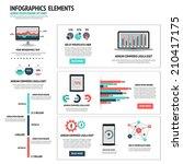 modern infographics set. vector | Shutterstock .eps vector #210417175