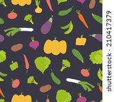 vector seamless pattern. bright ... | Shutterstock .eps vector #210417379