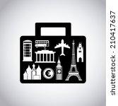 travel design over gray... | Shutterstock .eps vector #210417637