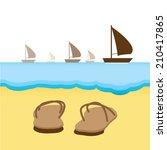 beach background | Shutterstock .eps vector #210417865