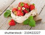 fresh strawberry in basket on...   Shutterstock . vector #210422227