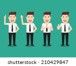 businessman character set eps 10 | Shutterstock .eps vector #210429847