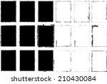 set of grunge frames. vector... | Shutterstock .eps vector #210430084
